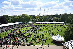 Guests attending the Royal Garden Party at Buckingham Palace in London.