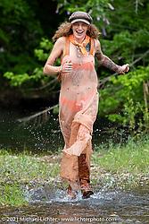 Danita Gayle at the Tennessee Motorcycles and Music Revival at Loretta Lynn's Ranch. Hurricane Mills, TN, USA. Saturday, May 22, 2021. Photography ©2021 Michael Lichter.