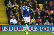 Romelu Lukaku of Everton celebrates after scoring his sides 1st goal. Premier league match, Watford v Everton at Vicarage Road in Watford, London on Saturday 10th December 2016.<br /> pic by John Patrick Fletcher, Andrew Orchard sports photography.