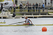 Eton Dorney, Windsor, Great Britain,..2012 London Olympic Regatta, Dorney Lake. Eton Rowing Centre, Berkshire[ Rowing]...Description: CZE W1X Mirka KNAPKOVA. celebrates winning the gold medal in the Women's Single Sculls, Dorney Lake..11:18:03  Thursday  02/08/2012..[Mandatory Credit: Peter Spurrier/Intersport Images].
