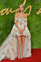 © Licensed to London News Pictures. 04/12/2017. London, UK.  POPPY DELEVIGNE arrives for The Fashion Awards 2017 held at the Royal Albert Hall. Photo credit: Ray Tang/LNP
