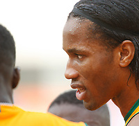Photo: Steve Bond/Richard Lane Photography.<br />Nigeria v Ivory Coast. Africa Cup of Nations. 21/01/2008. Didier Drogba of ivory Coast & Chelsea encourages his team mates