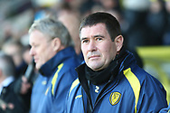 Burton Albion manager Nigel Clough during the EFL Sky Bet League 1 match between Burton Albion and Oxford United at the Pirelli Stadium, Burton upon Trent, England on 2 February 2019.