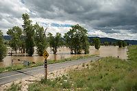 Swollen with spring runoff, the Gros Ventre River overflowed its banks last week near Gros Ventre Junction, closing several hundred feet of the adjacent multiuse pathway.