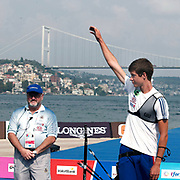 Gael PREVOST (FRA) competes in Archery World Cup Final in Istanbul, Turkey, Sunday, September 25, 2011. Photo by TURKPIX