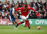 Photo: Richard Lane/Richard Lane Photography. Nottingham Forest v Cardiff City. Coca Cola Championship. 24/10/2008.Lewis McGugan strides forward