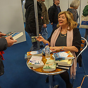 London, UK. 27th January, 2017. Carol Drinkwater talks about her life in France on The Olive Farm at The France Show 2017 at Olympia London chef demonstration. Credit: See Li.