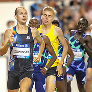 BRUSSELS, BELGIUM:  September 3:   Erik Sowinski of the United States in action during his victory in the 1500m for men during the Wanda Diamond League 2021 Memorial Van Damme Athletics competition at King Baudouin Stadium on September 3, 2021 in  Brussels, Belgium. (Photo by Tim Clayton/Corbis via Getty Images)