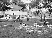 5580Child care center for the hop yard campground at the E. Clemens Horst hop ranch near Independence, Oregon. September 1, 1942.