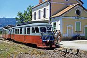 Calvi, Corsica in late 1950s Calvi, Corsica, France train at railway station
