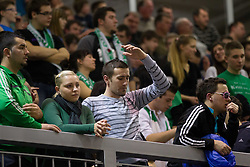 Kelti, fans of Krka during basketball match between KK Union Olimpija Ljubljana and KK Krka Novo mesto in Final match of 11th Slovenian Spar Cup 2012, on February 19, 2012 in Sports hall Brezice,  Brezice, Slovenia. Union Olimpija defeated Krka 68-63 and became Slovenian Cup Champion 2012. (Photo By Vid Ponikvar / Sportida.com)