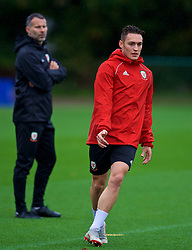 CARDIFF, WALES - Sunday, October 14, 2018: Wales' Connor Roberts during a training session at the Vale Resort ahead of the UEFA Nations League Group Stage League B Group 4 match between Republic of Ireland and Wales. (Pic by David Rawcliffe/Propaganda)