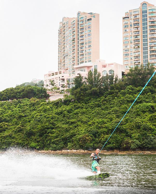 Island Wake - Wakeboarding at Tai Tam Tuk (Tai Tam reservoir) - on Thursday 14th July 2016