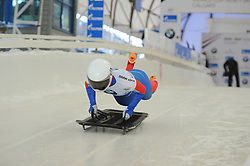 February 23, 2019 - Calgary, Alberta, Canada - Renata Khuzina (Russia) is on the distance during her first heat runs during BMW IBSF SKELETON WORLD CUP Calgary Canada 23.02.2019 (Credit Image: © Russian Look via ZUMA Wire)