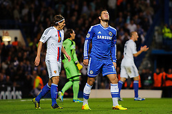 Chelsea Midfielder Eden Hazard (BEL) ooks frustrated his shot was saved during the second half of the match - Photo mandatory by-line: Rogan Thomson/JMP - Tel: 07966 386802 - 18/09/2013 - SPORT - FOOTBALL - Stamford Bridge, London - Chelsea v FC Basel - UEFA Champions League Group E
