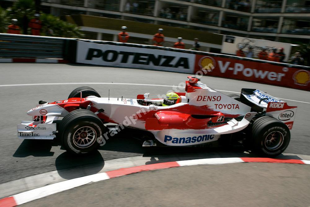 Ralf Schumacher (Toyota) in practice for the 2006 Monaco Grand Prix. Photo: Grand Prix Photo