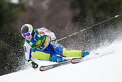 Forerunner Rok Kejzar of Slovenia during the 1st Run of 7th Men's Giant Slalom - Pokal Vitranc 2013 of FIS Alpine Ski World Cup 2012/2013, on March 9, 2013 in Vitranc, Kranjska Gora, Slovenia. (Photo By Vid Ponikvar / Sportida.com)