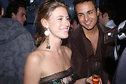 Francesca Versace and Markus Ketty. . Zac Posen Spring/ Summer collection launch party. The Blue Bar, Berkeley Hotel. London. 7 March 2004. Dafydd Jones,  ONE TIME USE ONLY - DO NOT ARCHIVE  © Copyright Photograph by Dafydd Jones 66 Stockwell Park Rd. London SW9 0DA Tel 020 7733 0108 www.dafjones.com