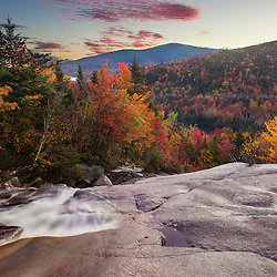 Zealand Falls in fall with Mount Tom in the distance. White Mountain National Forest, New Hampshire.