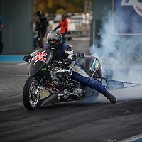 Terry Burnett (1688) on his Total Bobcat, Truck and Plant Hire Top Fuel Motorcycle at the Perth Motorplex.