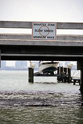 Manatee Sign On Bridge