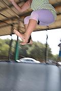 Children's holiday activity Children's adventure and playground Children on an indoor trampoline