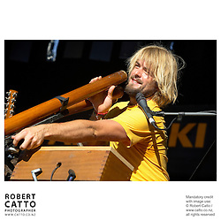 Xavier Rudd performs at WOMAD music festival in New Plymouth, Taranaki New Zealand.