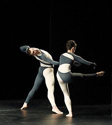 Nearly Ninety<br /> The Merce Cunningham Dance Company <br /> choreography by Merce Cunningham<br /> at The Barbican Theatre, London, Great Britain <br /> rehesrsal <br /> 26th October 2010 <br /> <br /> <br /> <br /> <br /> Brandon Collwes<br /> Emma Desjardins<br /> <br /> Photograph by Elliott Franks<br /> 2010©Elliott Franks