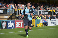 Joe Jacobson of Wycombe Wanderers looking on. Skybet football league two match, Wycombe Wanderers v Hartlepool Utd at Adams Park in High Wycombe, Bucks on Saturday 5th Sept 2015.<br /> pic by John Patrick Fletcher, Andrew Orchard sports photography.