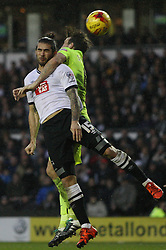 Bradley Johnson of Derby County (L) and Lewis Dunk of Brighton & Hove Albion in action - Mandatory byline: Jack Phillips / JMP - 07966386802 - 12/12/2015 - FOOTBALL - The iPro Stadium - Derby, Derbyshire - Derby County v Brighton & Hove Albion - Sky Bet Championship