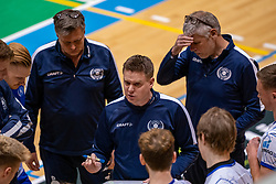 Trainer/coach Arjan Taaij in action during the league match between Active Living Orion vs. Amysoft Lycurgus on March 20, 2021 in Doetinchem.