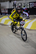 #212 (PETERSONEI Vinetai) LAT during practice at the 2019 UCI BMX Supercross World Cup in Manchester, Great Britain