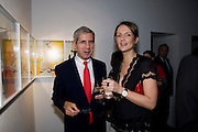 SIR STUART ROSE; SAFFRON ALDRIDGE, Miles Aldridged exhibition. Hamiltons. Carlos Place, London.  31 March 2009