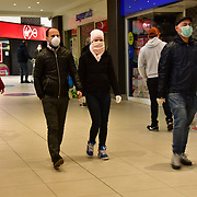 During the coronavirus in UK lockdown seen people wearing, at Walthamstow Shopping mall,on 28 March 2020 London.