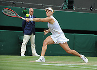 Lawn Tennis - 2021 All England Championships - Week Two - Thursday - Wimbledon - Ladies Semi Final . Ashleigh Barty v Angelique Kerber]<br />  <br /> Angelique Kerber <br /> <br /> Credit : COLORSPORT/Andrew Cowie