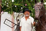 Curvelo_MG, Brasil...Retrato de um antropologo e fundador do Centro Popular de Cultura e Desenvolvimento, na sede do Projeto Dedos de Minas, local de producao de artesanato e culinaria...Portrait of an anthropologist and founder of the Popular Culture Center and Development in the Dedos de Minas project, They produce crafts and cuisine...Foto: LEO DRUMOND / NITRO