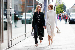 Street style, Laura Tonder and Maria Jernov arriving at Greta Gram Spring Summer 2017 show held at Stockholms Auktionsverk, Nybrogatan 32, in Stockholm, Sweden, on August 30th, 2016. Photo by Marie-Paola Bertrand-Hillion/ABACAPRESS.COM