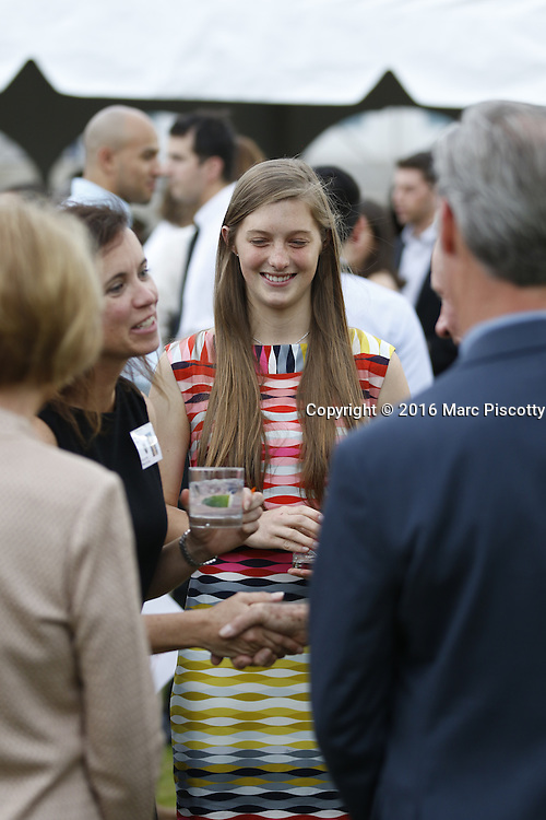 SHOT 6/1/16 5:24:23 PM - Colorado Academy Senior Class portrait in front of the Wellborn House and Class of 2016 Commencement Dinner at the Denver, Co. private school. (Photo by Marc Piscotty / © 2016)