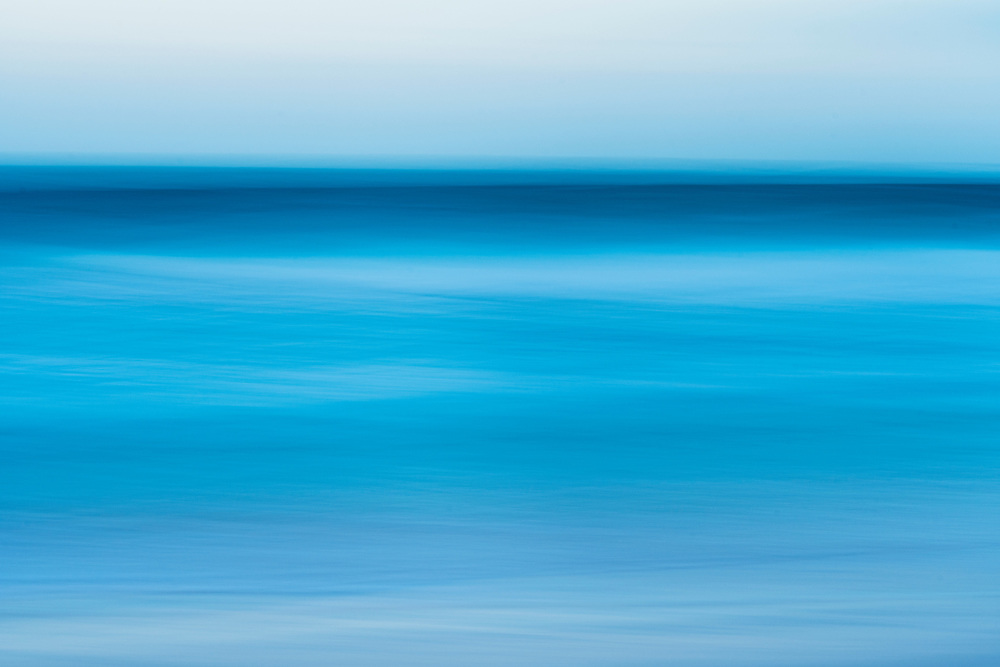 Abstract view of the calming ocean.