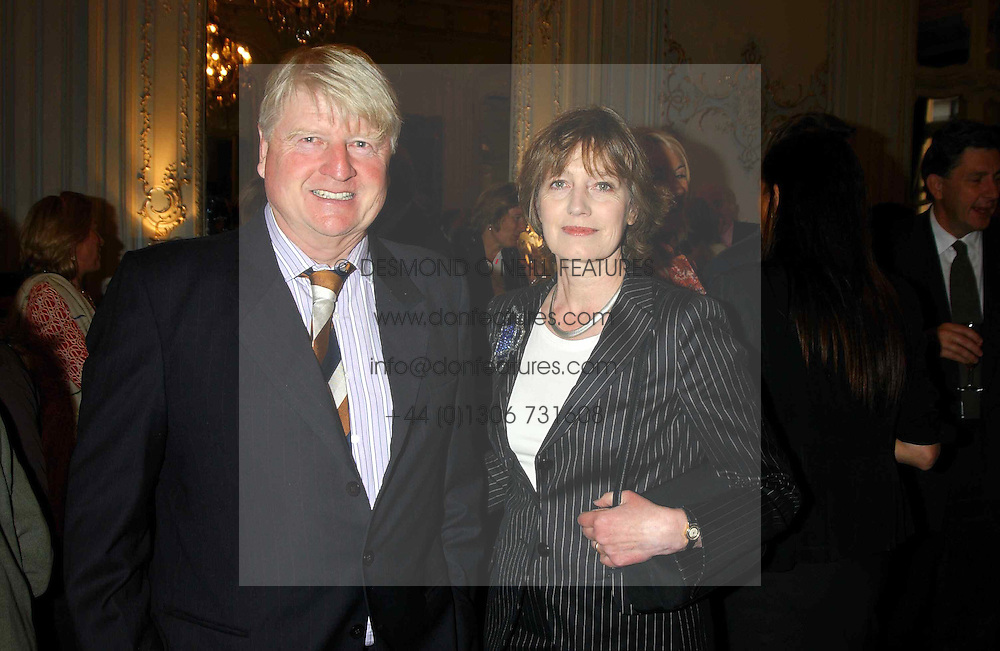 MR & MRS STANLEY JOHNSON at a party to celebrate the publication of 'Princesses' the six daughters of George 111 by Flora Fraser held at the Saville Club, Brook Street, London W1 on 14th September 2004.<br /><br />NON EXCLUSIVE - WORLD RIGHTS