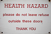 Health Hazard warning sign.