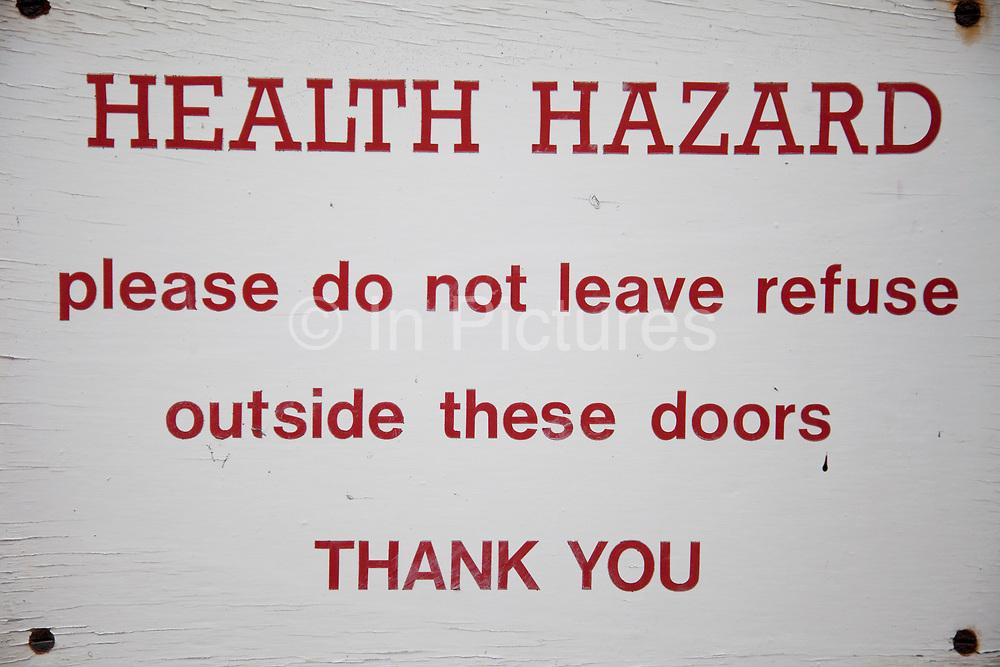 Health Hazard warning sign.