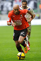 FOOTBALL - FRENCH CHAMPIONSHIP 2010/2011 - L1 - STADE RENNAIS v GIRONDINS BORDEAUX - 30/04/2011 - PHOTO PASCAL ALLEE / DPPI - STEPHANE DALMAT (REN)