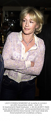 LADY COSIMA SOMERSET at a party in London on 29th November 2000.OJR 170