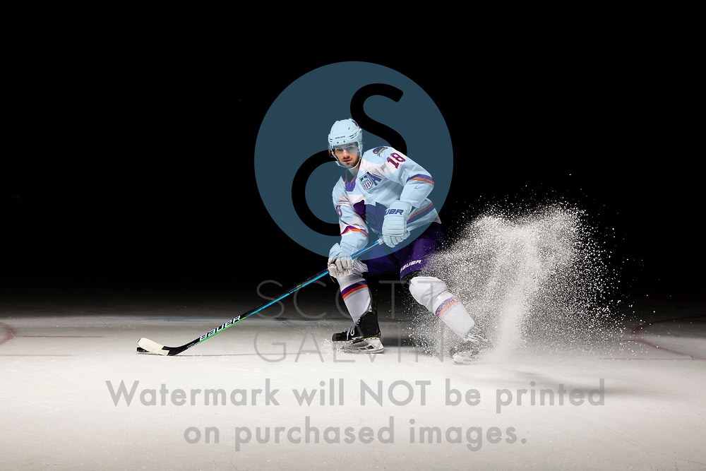Youngstown Phantoms player photo shoot on April 14, 2021. <br /> <br /> Jack Malone, forward, 18