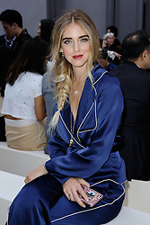 Chiara Ferragni attending the Chloe show as a part of Paris Fashion Week Ready to Wear Spring/Summer 2017 in Paris, France on September 29, 2016. Photo by Aurore Marechal/ABACAPRESS.COM