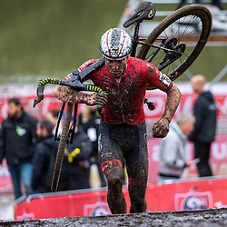 GIETEN (NED): CYCLOCROSS: October 3th<br /> Race impression mud, modder, Kevin Kuhn
