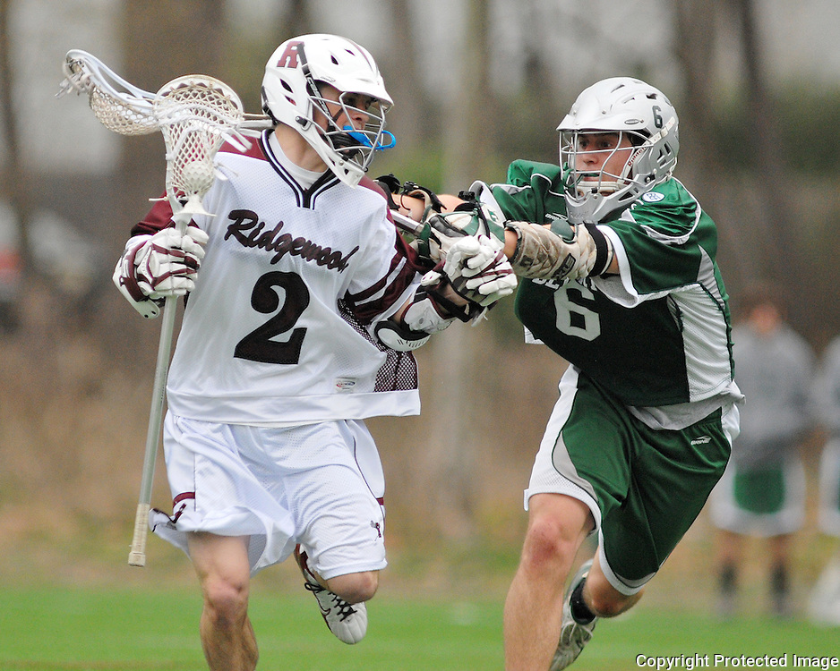 The Delbarton Green Wave defeat the Ridgewood Maroons 10-9 in Boys High School Lacrosse Action on April 11, 2008 at Maple Park Field in Ridgewood, N.J.