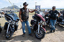 Mathew Long in the Harley Owners Group (HOG) motorcycle field games at the Full Throttle Saloon during the Sturgis Motorcycle Rally. SD, USA. Thursday, August 12, 2021. Photography ©2021 Michael Lichter.