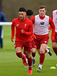 DERBY, ENGLAND - Friday, March 8, 2019: Liverpool's Alex Oxlade-Chamberlain during the pre-match warm-up before the FA Premier League 2 Division 1 match between Derby County FC Under-23's and Liverpool FC Under-23's at the Derby County FC Training Centre. (Pic by David Rawcliffe/Propaganda)